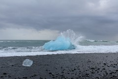 Waves crashing on ice burg off Jokulsarlon beach (colin.sheader) Tags: jokulsarlon iceberg leefilter iceland