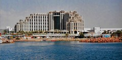 Hotel in Eilat Isreal (Eddie Crutchley) Tags: isreal eilat coast outdoor redsea gulfofaqaba hotel architecture sunlight bluesea greatphotographers