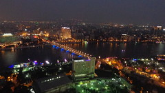 Cairo by Night (Rckr88) Tags: cairobynight cairo by night view from atop tower egypt cairotower towers nights light lights city cities river rivers nileriver nile water bridge britain africa travel sky skyline skyscrapers skyscraper