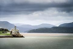 Coes Faen (Mopple Labalaine) Tags: wales barmouth bridge cymru beach afon mawddach cambrian coast river pentax k1 house clock coesfaen clouds landscape