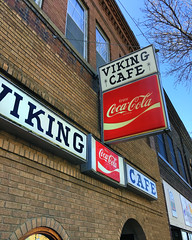The Valhalla of Vittles (Pete Zarria) Tags: minnesota street smalltown color sign coke cafe diner