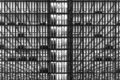 Stacked (dlorenz69) Tags: car park squaire frankfurt airport hessen black white monochrome lines confusion stack stacked gestapelt parkhaus night nacht light
