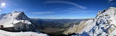 Mittenwald - Karwendel Panorama (cnmark) Tags: germany deutschland mittenwald bayern bavaria karwendel panorama panoramic snow blue sky outdoors mountans mountain range gebirgskette alpen alps sun sunrays allrightsreserved