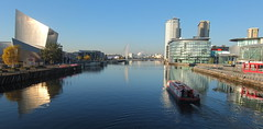 UK shipping (onewayticket) Tags: boat ship vessel citycentrecruises water canal manchestershipcanal buildings architecture reflections
