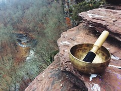 Singing Bowl at High Rocks (Amber Redfield) Tags: nomad trees forest geology music statepark pennsylvania trail alanwatts bouldering rockclimbing backpacking hiking reflecting reflection meditate calming serenity relax meditation tibetan tibet tibetansingingbowl singingbowl rocks nature ralphstoverstatepark highrocks outdoors