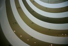 Staircase 2 (Jim Davies) Tags: photography analogue film veebotique 35mm kodak portra 160asa c41 newyorkcity nyc newyork manhattan bigapple compact filmfilmforever olympus accura zoom 80 dlx guggenheim museum staircase spiral