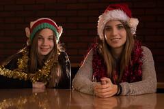 Sisters (tankkiller1) Tags: girls sisters portrait portr fuji xpro2 xf56mm christmas santa groupshot people yn168 cactusrf60