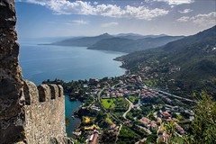 PA136645 Italy Sicily Cefalu (Dave Curtis) Tags: 2013 cefalu em5 europe italy omd olympus sicily view castle