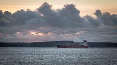 Sunrise Arrival (MBDGE) Tags: orkney ocean ship seascape lightroom lights tanker shiptoship boat marine offshore sunrise canon70d lpg