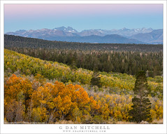 Eastern Sierra From Afar (G Dan Mitchell) Tags: pre dawn sunrise morning sierra nevada mountains eastern escarpment ritter banner sagehen road meadow aspen grove forest trees fall autumn color season