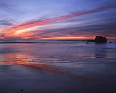 Sometimes Simple (RZ68) Tags: sunset sunrise color clouds wet sand reflection surf ocean sea beach coast red orange sonoma county salmon creek california rz67 velvia provia e100 wide angle north bay area