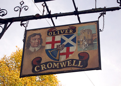 cambs - sign of oliver cromwell pub 03-11-16 JL