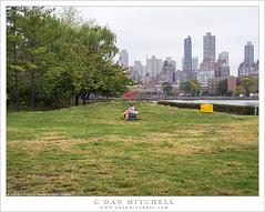 Woman, Sculpture Park, East River (G Dan Mitchell) Tags: woman art sculpture park sit seated lawn trees socrates public east river manhattan upper side chair urban street