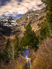 Ghost Hiking By Moonlight (xjblue) Tags: mttimpanogos 2016 november hike summit moon moonlight super supermoon wasatchmountains wasatch mountain outdoors night scenic self portrait ghost