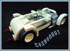 '32 Custom GAZ...Cosmonaut (Lino M) Tags: russia russian soviet hot rod car ford gaz 1932 32 roadster space rover lunar moon custom white sand blue lego lino martins lugnuts deuces wild deuce cosmonaut