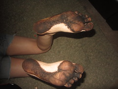IMG_0003 (Elizabeth Townsend) Tags: dirty feet soles filthy black gre oily female