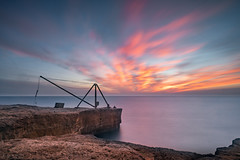 Red Crane (tonywoodphotography.com) Tags: landscape sunrise sea sunset water nature coast seascape long exposure lee filters dorset red crane portland bill jurrasic sony carl zeiss batis a7rii outdoor