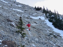 Mt Yamnuska Summit Scramble - A bit bleak but the fun continues (benlarhome) Tags: yamnuska alberta canada kananaskis scramble scrambling hike hiking trek trekking trail