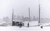 Blizzard, Stockholm, November 9, 2016 (Ulf Bodin) Tags: strandvägen sverige blizzard winter canonef35mmf14liiusm running walking outdoor snow snö urban ship canoneos5dsr vinter stockholm sweden streetphotography snöstorm urbanlife stockholmslän se
