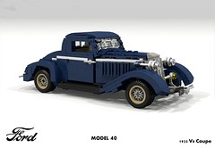 Ford 1933 Model 40 V8 Coupe (lego911) Tags: ford 1933 model 40 1930s classic v8 coupe usa america auto car moc miniland lego 911 ldd render cad povray lugnuts challenge 109 deuceswild deuces wild lego911 foitsop