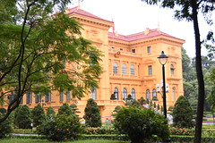 Typiclly French styled Presidential Palace of Vietnam