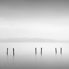 Three pairs (ilias varelas) Tags: three light longexposure landscape sea seascape ilias varelas greece atmosphere exposure mood monochrome mono mist water blackandwhite bw