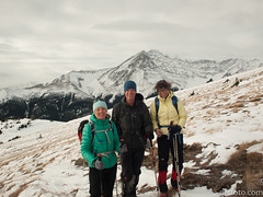 Julia, Peter, Barb (David R. Crowe) Tags: landscape mountain mountainscrambling nature outdooractivities scrambling turnervalley alberta canada