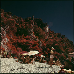 is there life on mer (steve-jack) Tags: hasselblad 501cm 50mm kodak aerochrome bw 099 filter france medium format film 120 6x6 cassis parcnationaldescalanques calanques flextight x5 scan