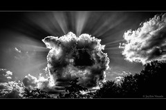 Black Hole Sun... (jayem.visuals) Tags: blackwhite blackandwhite clouds landscape nature outdoor repuscularrays sky sun sunrays sunbeams jayemvisuals juergenmaeurer