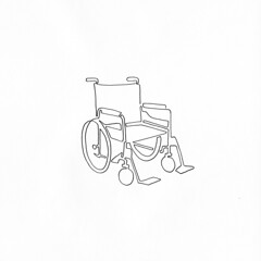 a single line drawing of a wheel chair. (Chad Coombs) Tags: cchadcoombs chad coombs unsceneart single line singleline oneline oneliner one liner ink marker drawing design tattoo flash traditional gallery wear nyc get it then naked nude topless pantless bottomless sexy art for everyone up inn hurrrr