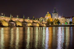 HDR panorama part of the Charles Bridge in Prague (Stanislav Zakurdaev) Tags: charlesbridge czechrepublic europe hdr prague stanislavzakurdaev vltava autumn beautifulview bluelandscapesky holiday landscape oldtown panorama river tonight travel trip photostascom
