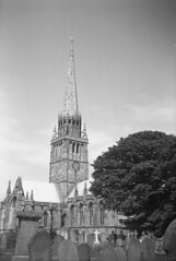 The church of St Patrick (njp66) Tags: camera church st zeiss box patrick d76 spire f pan ilford holderness tengor 562