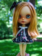 Kedada con Nova (07/07/13) (elbauldeLily) Tags: de outside chat doll noir meeting le delight blythe custom simply cositas nenitas