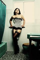 Rivi Madison - Bathroom Set (David Arran Photography) Tags: stockings bathroom nikon highheels corset garterbelt d7000 rivimadison