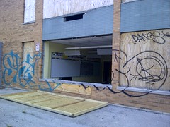 The Old Attucks School (artistmac) Tags: city school urban chicago abandoned public gardens graffiti illinois closed classroom south side whiteboard il change southside projects tagging cha cps obsolete publichousing publicschool crispus chicagopublicschools attucks stateway housingauthority