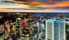 Night and Day (SydneyLens) Tags: australia nsw hdr sydneycity hdrphotography sydneytowereye nswgateway