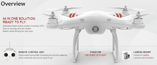 DJI PHANTOM RTF Quadcopter GoPro Compatible WI...