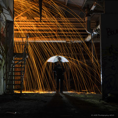 "Raining Fire ""Hotshots"" (AGB Photography) Tags: lightpainting rain nikon lp d7000 woolspin agbphotography wirewoolfire ababandon"