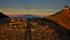 Two shadows (Yoshia-Y) Tags: shadow sunrise mtkisoontake