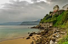 Lastres, Asturias (Christian Olivares) Tags: sea espaa beach clouds mar spain pentax asturias playa nubes lastres