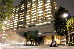 National Center for Global Health and Medicine Annex () (christinayan01) Tags: street building bike architecture night hospital tokyo shinjuku