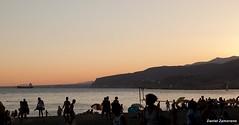 Almera (danizamo) Tags: espaa costa canon atardecer mar andaluca playa barrio almera mediterrneo 500d palmeral zapillo
