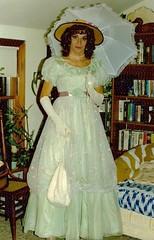 My Second Halloween (Laurette Victoria) Tags: costume laurette southernbelle hoopskirt hat girl halloween parasol
