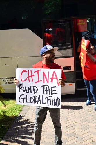 Houston: China Global Fund Protest (10/24/13)