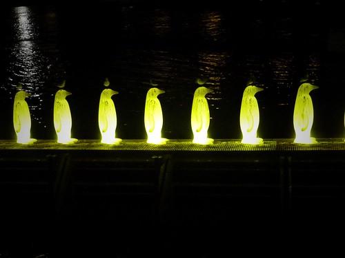 Pingouins sur la Vltava, Prague, République Tchèque