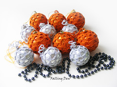 orange baubles uk (FallingDew) Tags: christmas decorations tree green home holidays designer unique crochet decoration gifts crocheted baubles christmastreedecorations greenbaubles ukhandmade