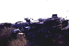 Bleak Hill Car Dump, c1979 (roger.w800) Tags: london ford abandoned rust rusty dump rusted morris recycling scrapping scrap woolwich humber vauxhall clunker crusher abandonedcar selondon southeastlondon plumstead fordconsul cardump 100e bleakhill carcrushing winnscommon winncommon bleakhillmotors