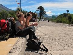 Hitchhiking again (nm nm.) Tags: chile road travel girls argentina al reisen border adventure hitchhiking backpacker dedo reise grenze autostop anhalter argentinien abenteuer trampen