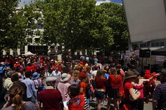 Crowd (Orangedrummaboy) Tags: sky music tree green nature weather canon landscape outdoors march concert community au capital rally gig banner protest livemusic australian australia national greens canberra aussie banners dslr act placard downunder australiancapitalterritory garemaplace climateaction nationaldayofclimateaction carbonprice emissionstradingscheme davidjburke canberra100 originalfilter orangedrummerboy orangedrummaboy uploaded:by=flickrmobile flickriosapp:filter=nofilter davidjohnburke orangedrummaboyphotographycanberra djburke httpswwwfacebookcomorangedrummaboy thmccit httpstwittercomorangedrummaboy
