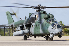 FAB8955_Mi-35Hind_BrazilianAF_NAT (Tony Osborne - Rotorfocus) Tags: brazil natal force exercise air flight attack helicopter sabre brazilian hind mil ah2 2013 cruzex mi35